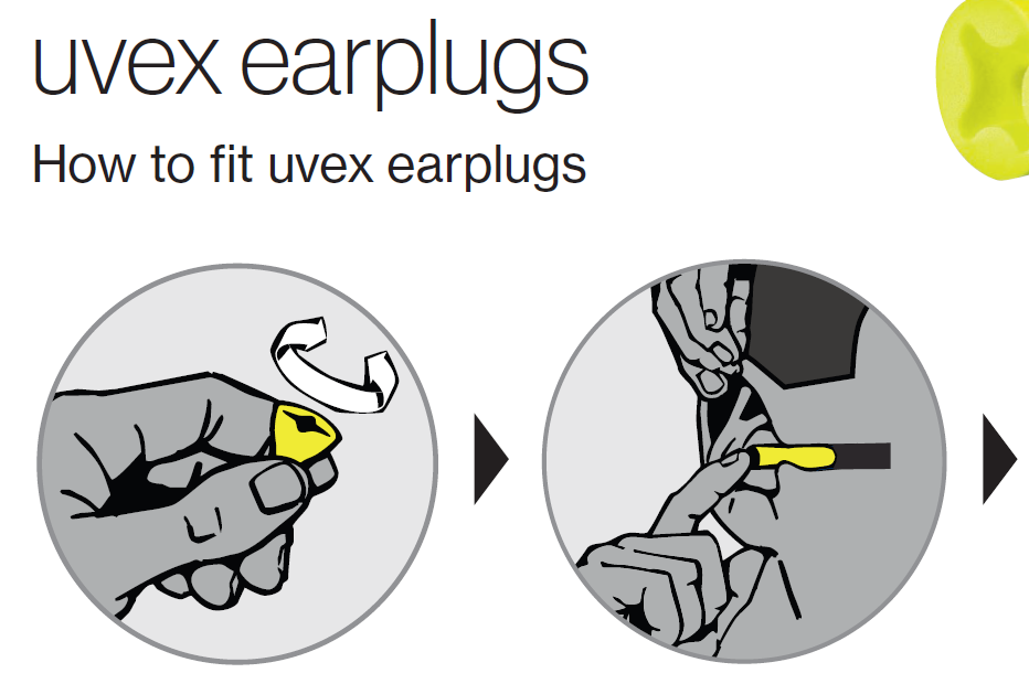 How to fit earplugs