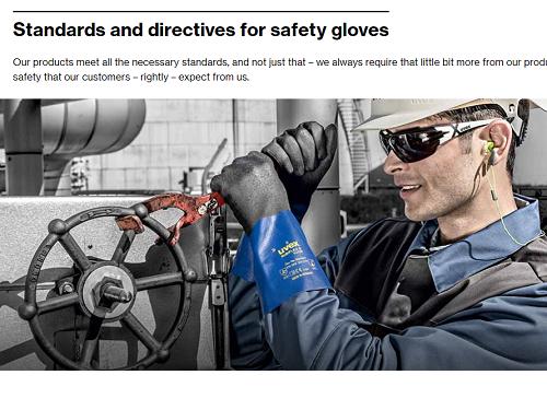 Chemical glove standard
