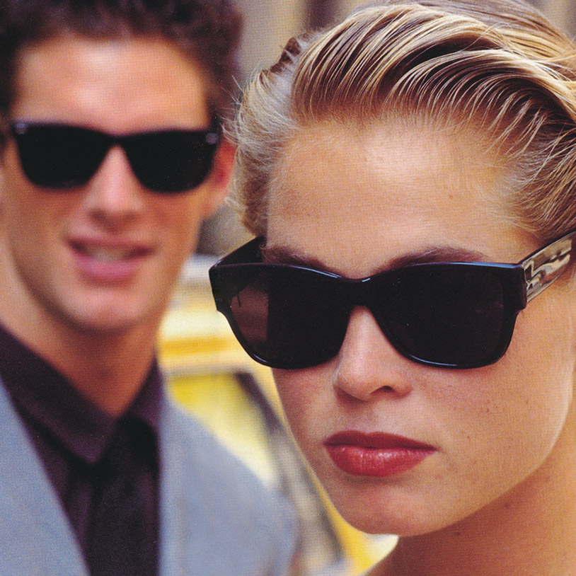 Models with Filtral sunglasses, advertising