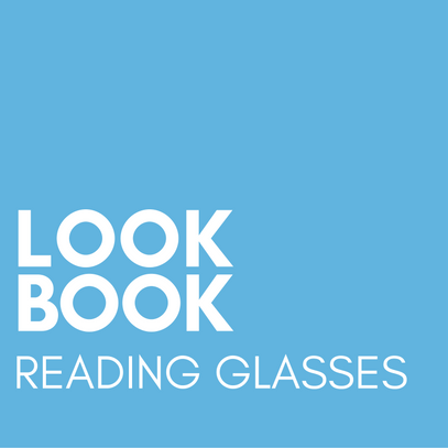 Graphic, text element, lookbook reading glasses