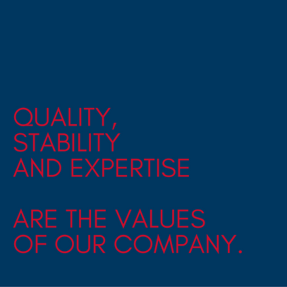 Graphic, text element, company values Filtral