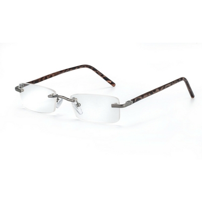 Rimless reading glasses model Monaco for round faces