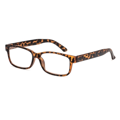 Square reading glasses style Oslo for round faces