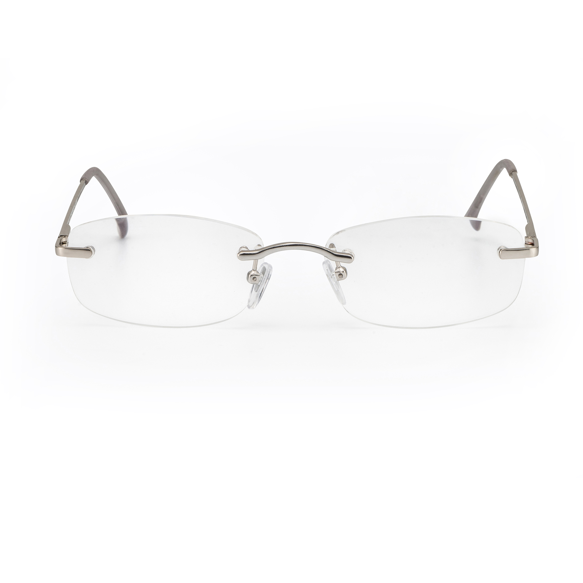 Front view reading glasses Hamburg silver