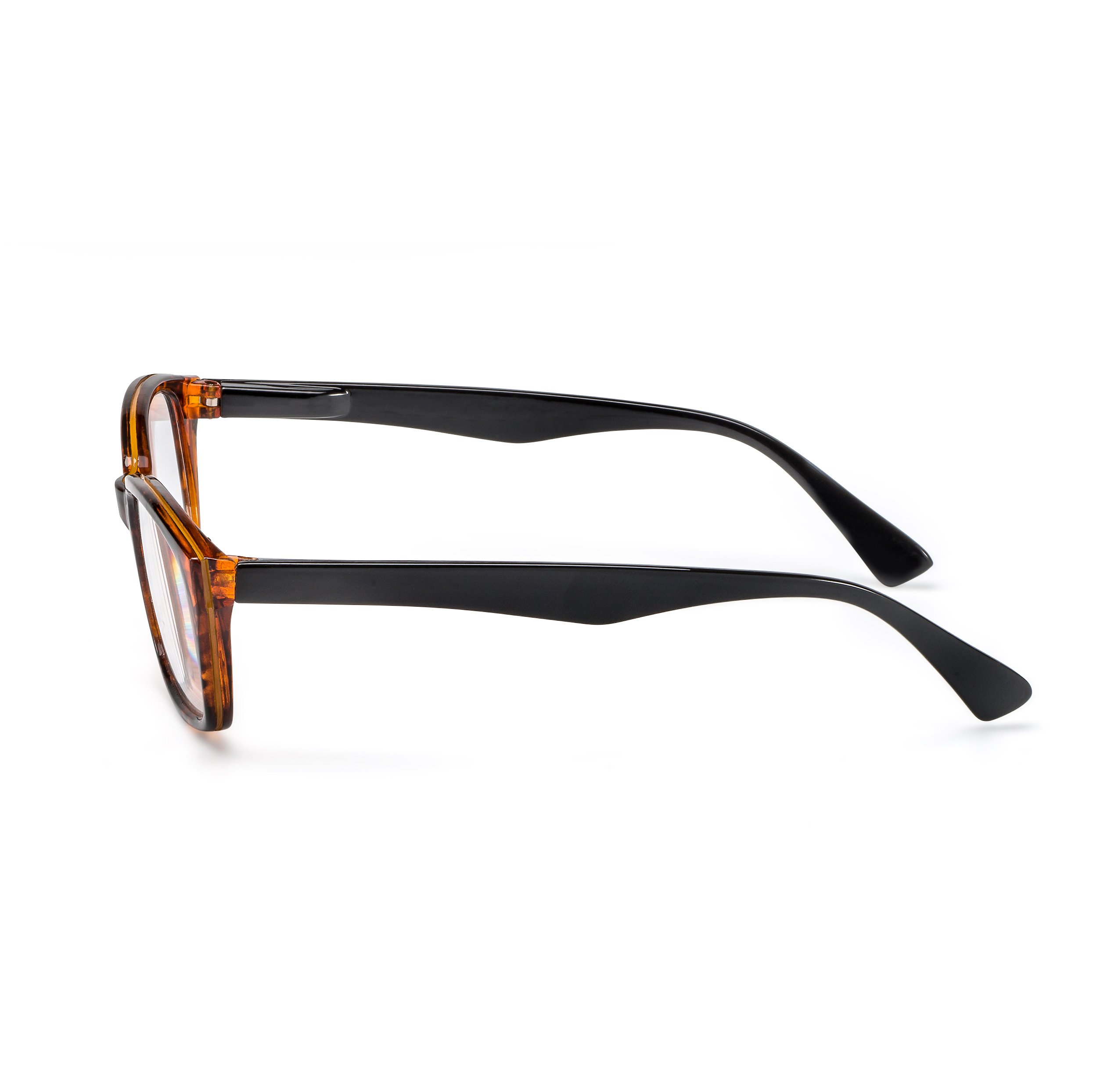 Side view reading glasses Havanna black