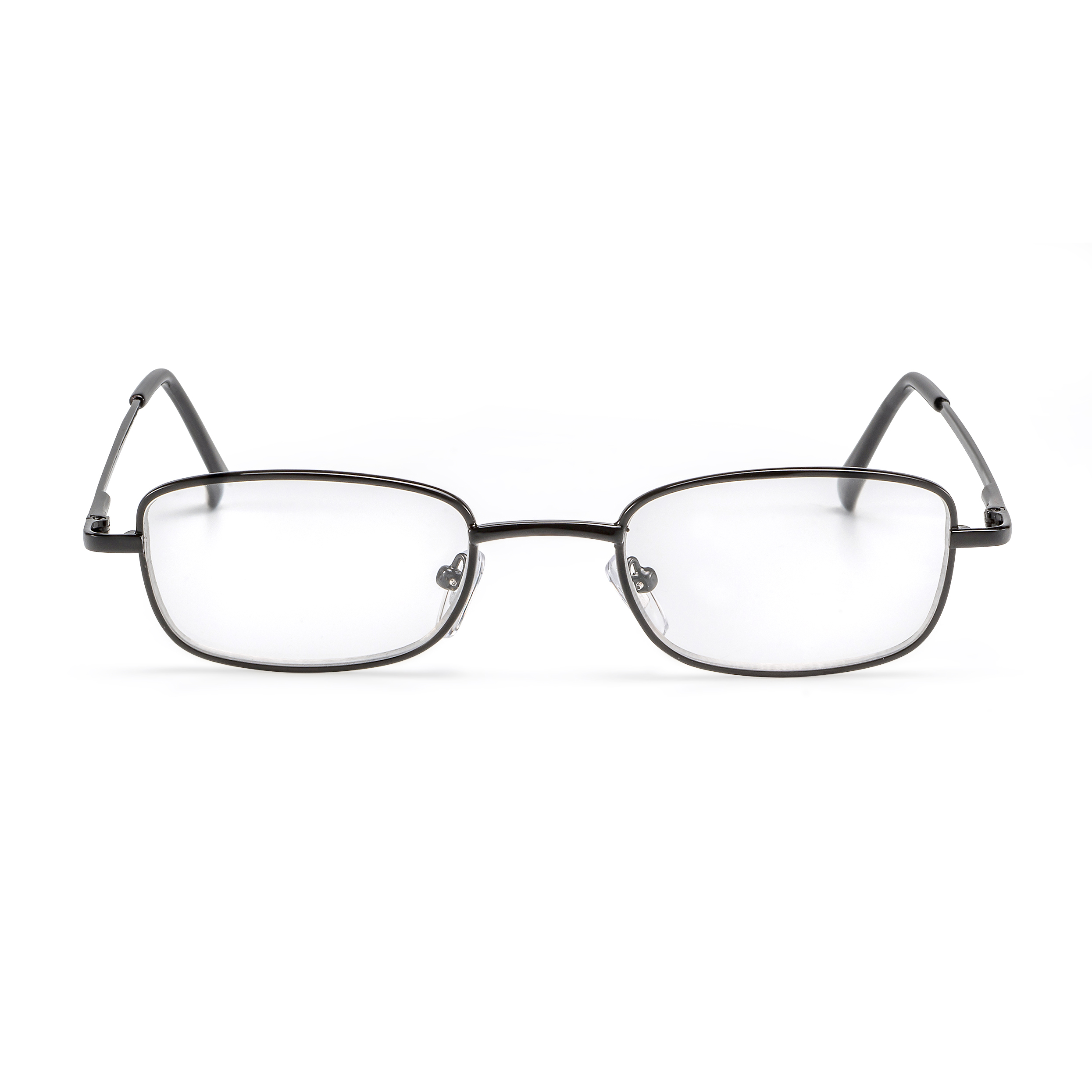 Front view reading glasses black