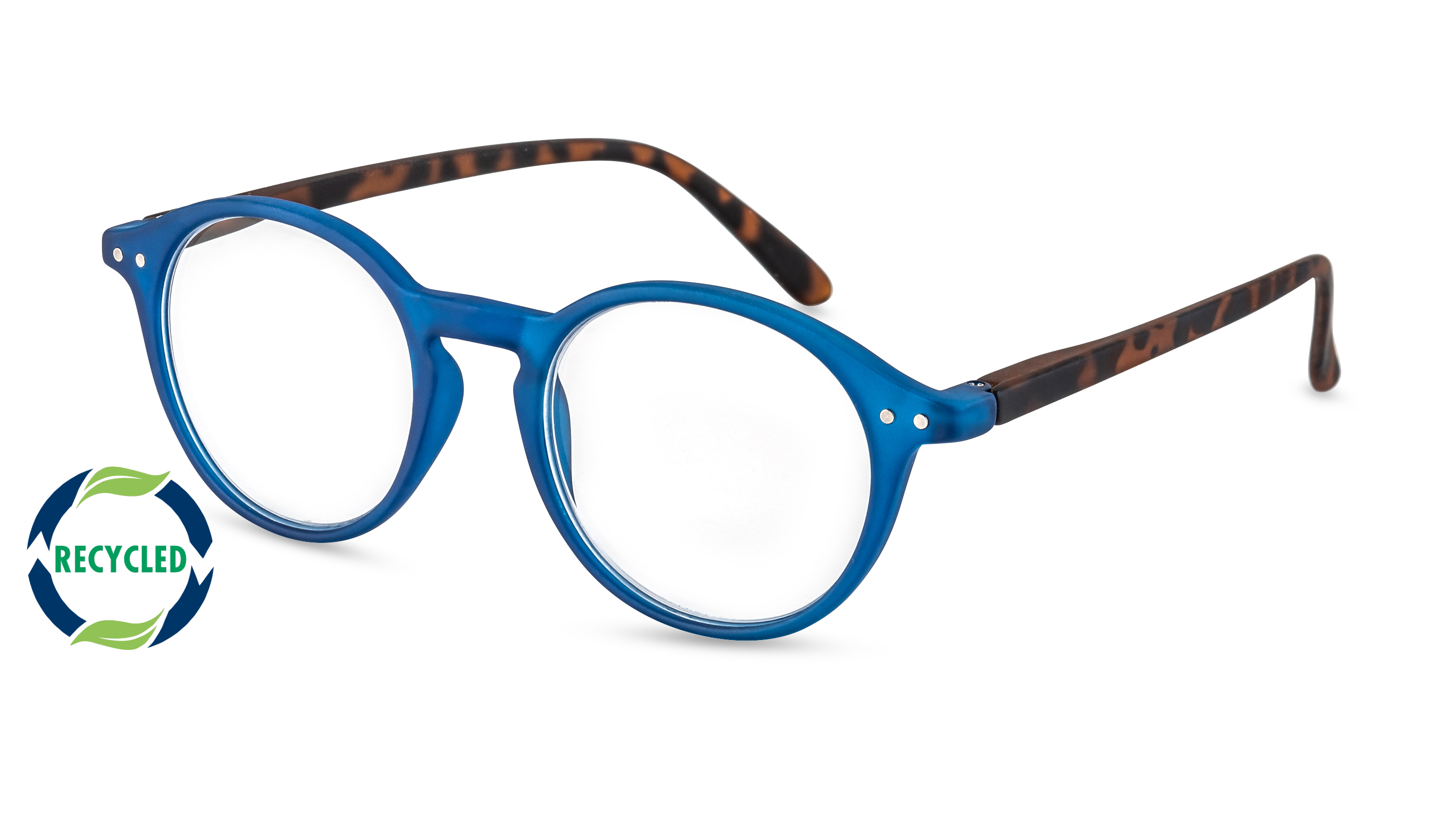 Filtral Recycled Reading Glasses Rio blue-havana
