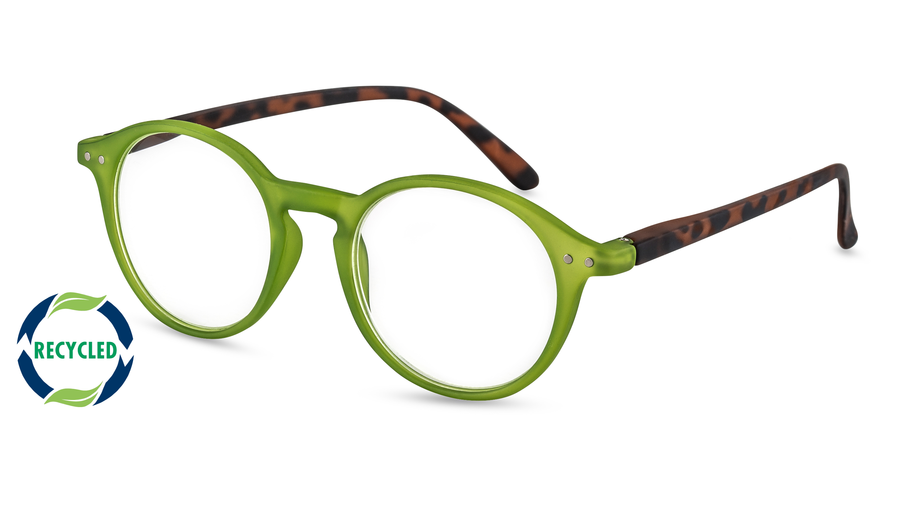 Filtral Recycled Reading Glasses Rio green-havana