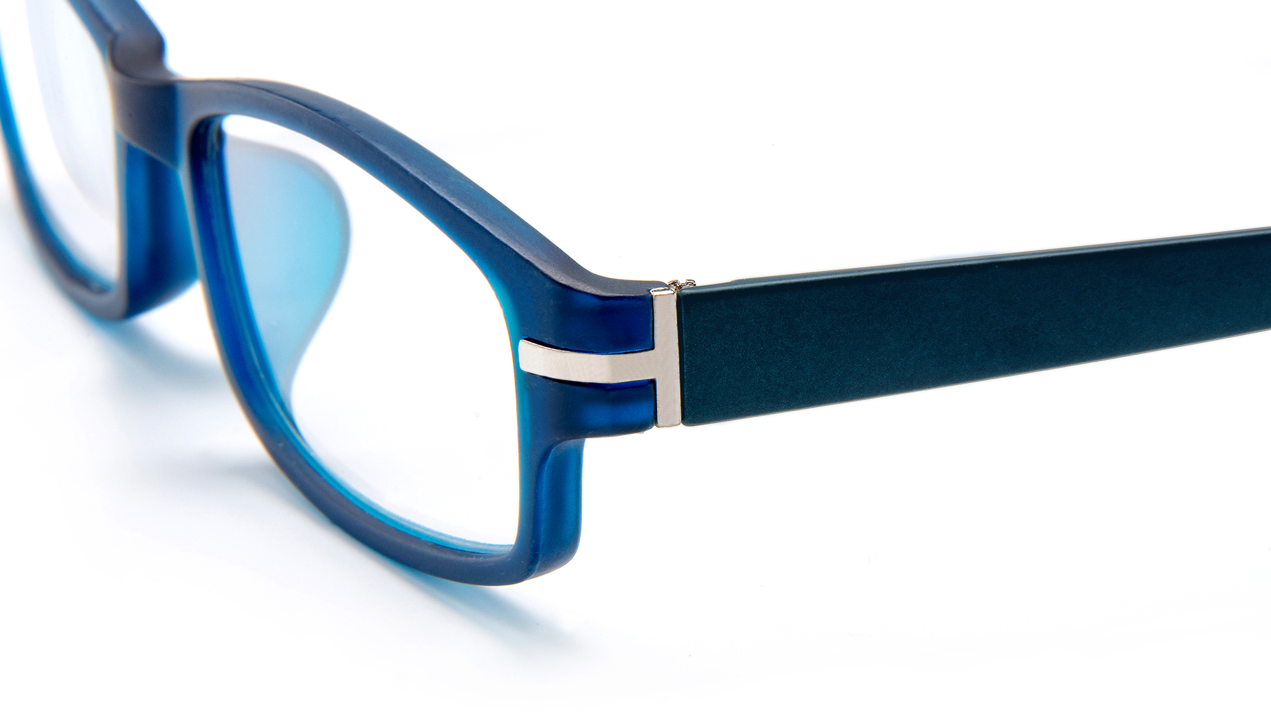 Detailed view frame, reading glasses Sydney blue