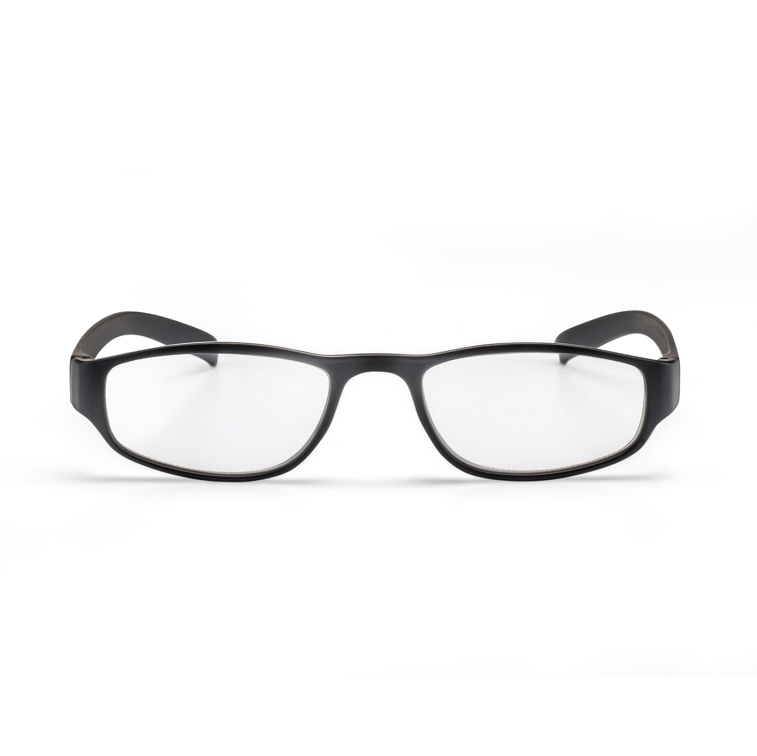 Frot view reading glasses colour look black