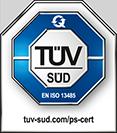 pruefsiegel, zertifikat, TÜV SÜD Iso 13485