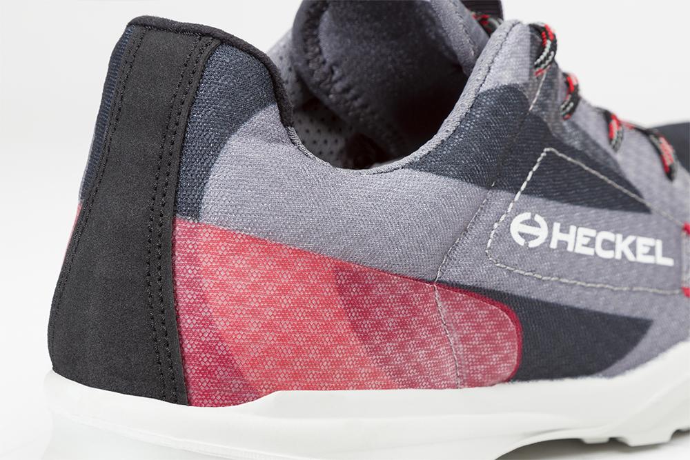 Basket de sécurité RUN-R 500 zoom sur l'arrière de la chaussure