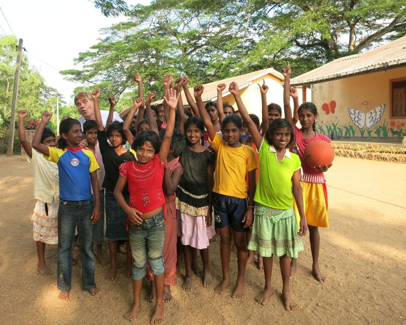 Die Rainer Winter Stiftung unterstützt das Kinderheim 'Child Development Center' in Monaragala, in dem 29 vernachlässigte Mädchen leben.
