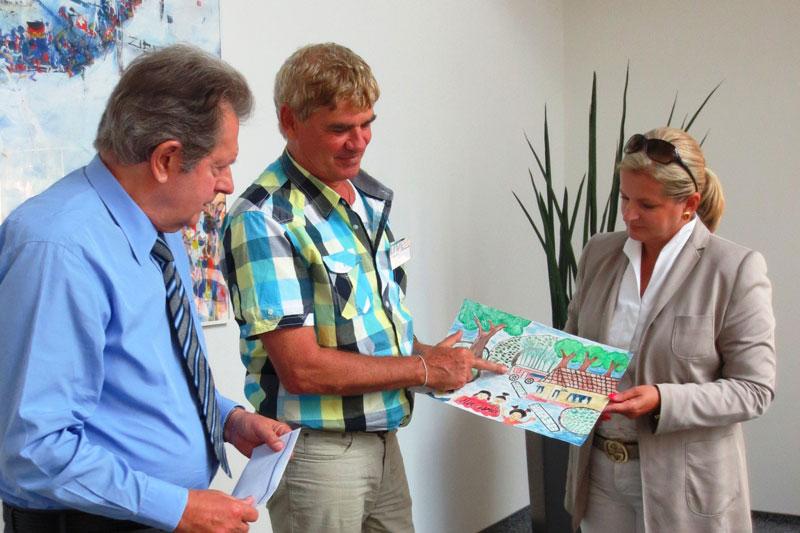 Michael Kreitmeir besucht die Stiftungsvorstände in Fürth.