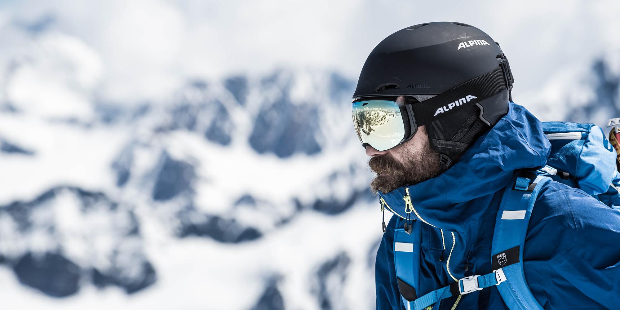 ALPINA uvex group Skifahrer Skibrille
