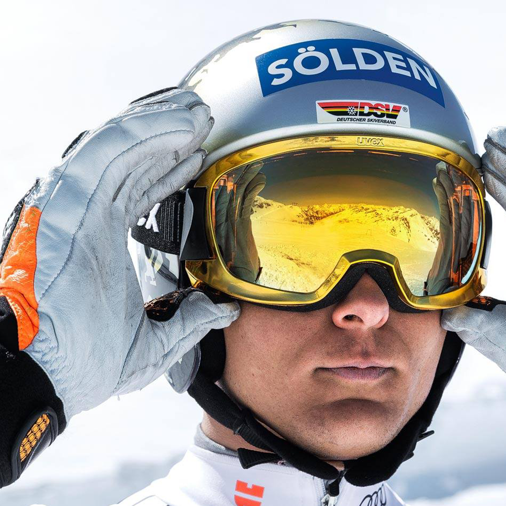 uvex sports Thomas Dressen Skibrille gold