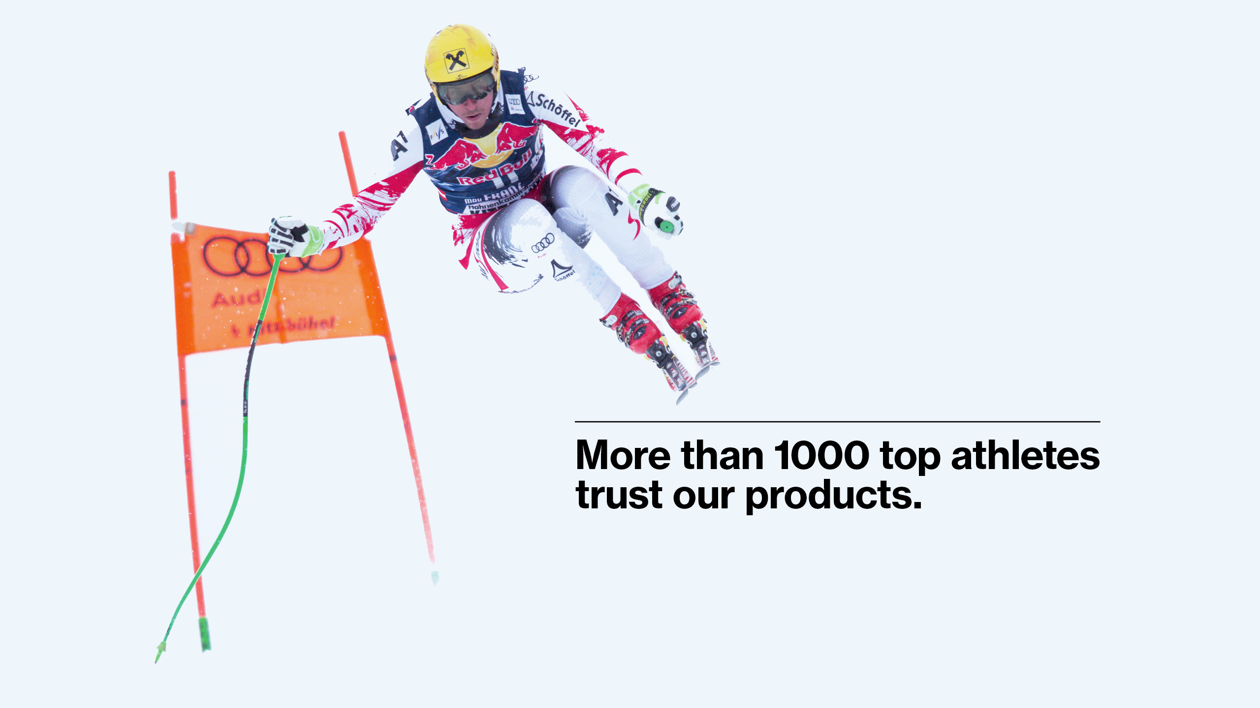 Top athletes trust in uvex products.