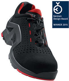 """a97b02c3966 The safety shoe uvex 1 x-tended support 8512 is awarded with the """"German  Design Award 2015"""""""