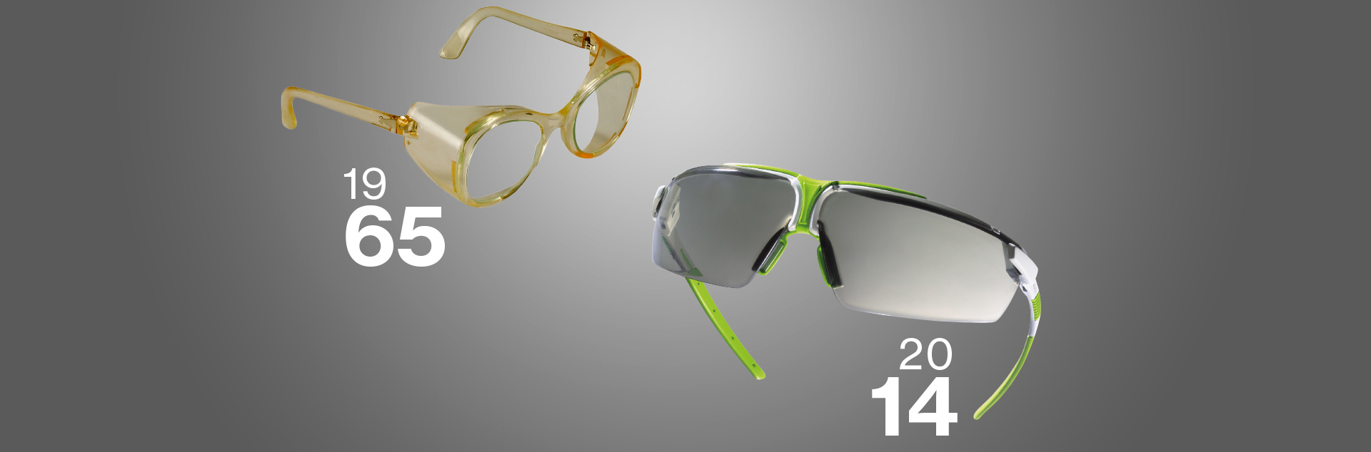 The first safety eyewear.