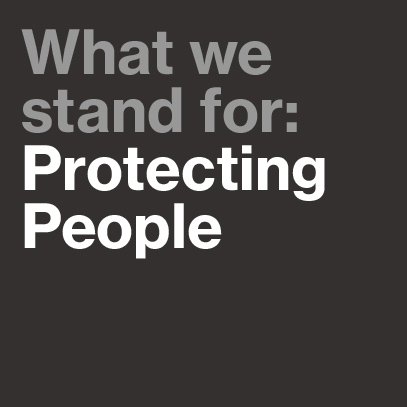 uvex stands for: protecting people