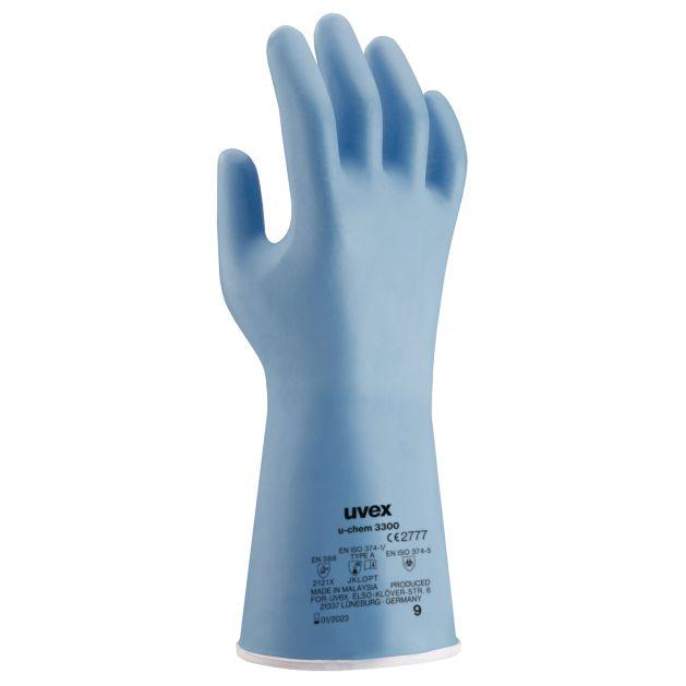 Gants de protection contre les risques chimiques uvex u-chem 3300