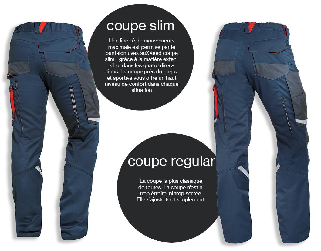 Pantalon pour hommes uvex suXXeed coupe regular ou coupe slim