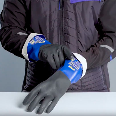 How to put on & take off chemical protective gloves