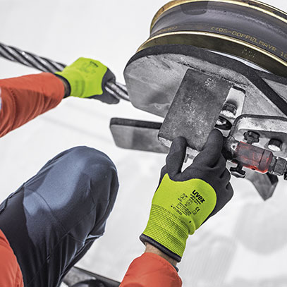 Robust cut protection for cold working conditions