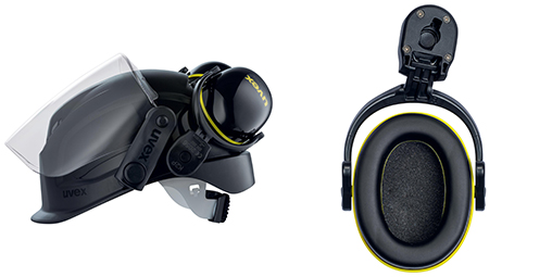 uvex pheos K2P helmet earmuffs