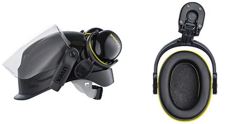 uvex pheos K2P magnet helmet earmuffs