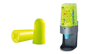 uvex x-fit disposable earplugs and dispenser