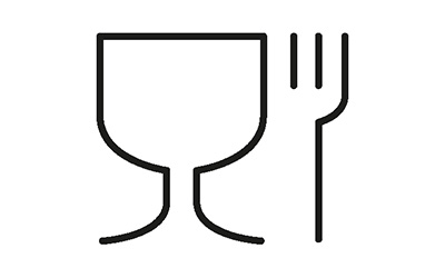 Food handling logo