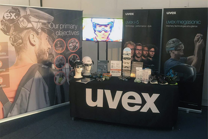 The uvex stand at the HSE UK Congress 2020