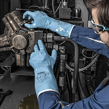 Explore uvex chemical protection gloves