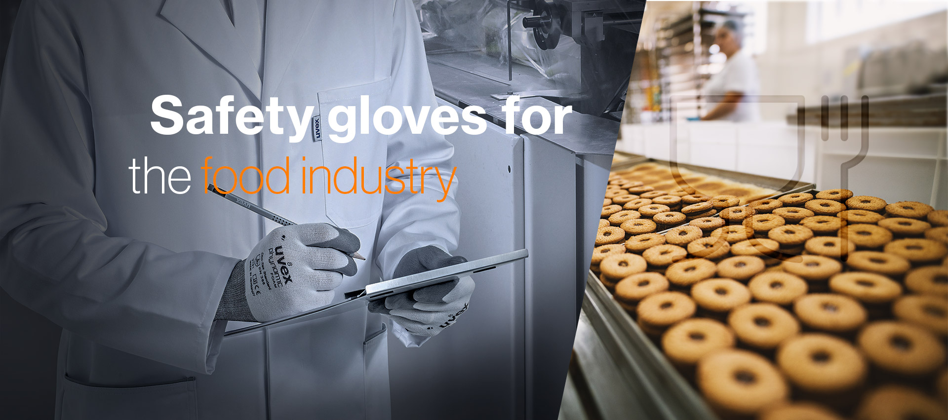 Food standard approved safety gloves from uvex