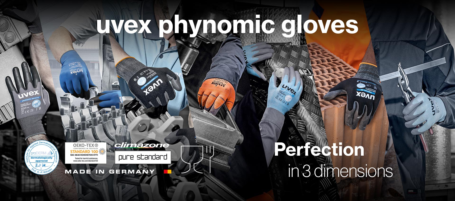 uvex phynomic safety glove range