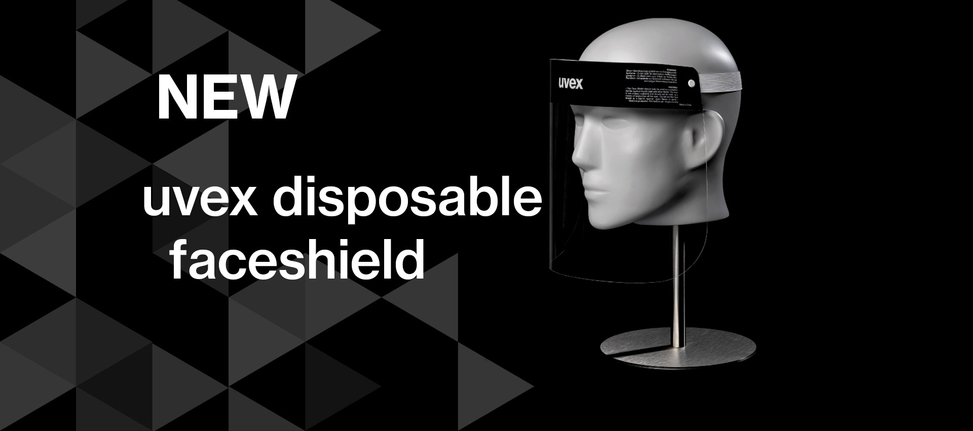 New uvex disposable faceshield