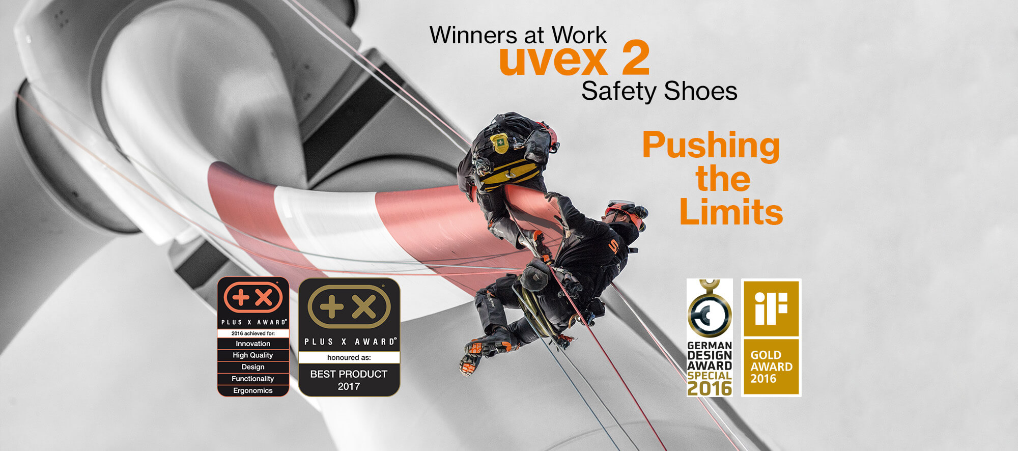 uvex 2 safety shoes awarded winners at work