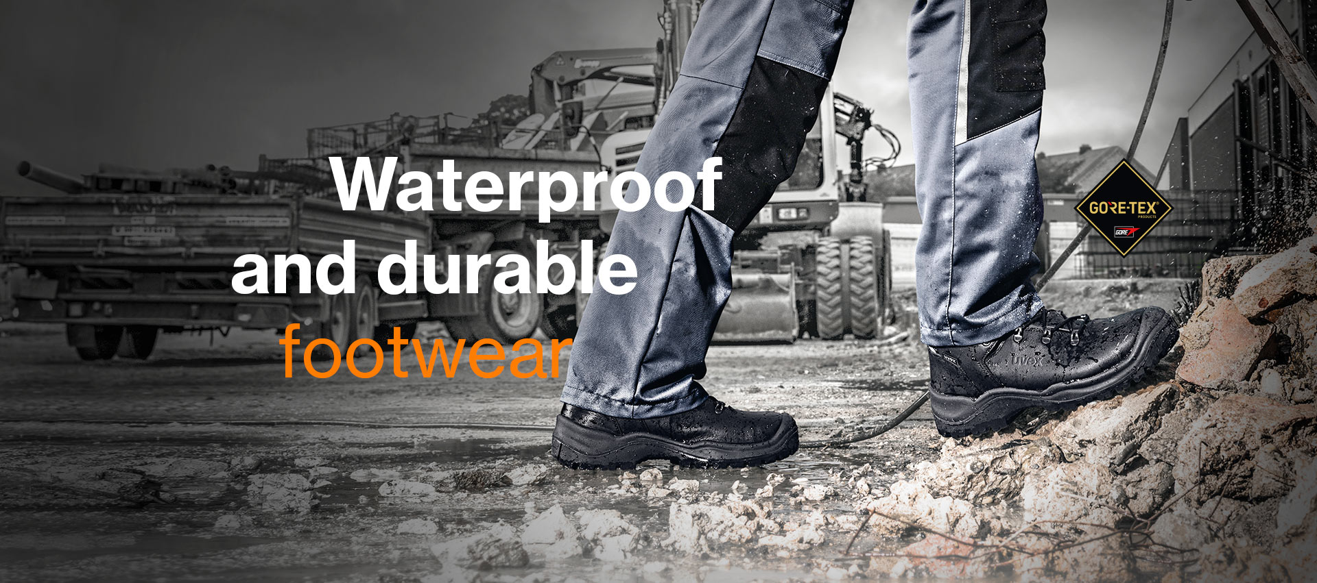 Waterproof and durable footwear from uvex