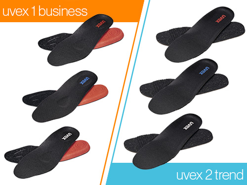 New insoles for the uvex business 1 and uvex 2 trend