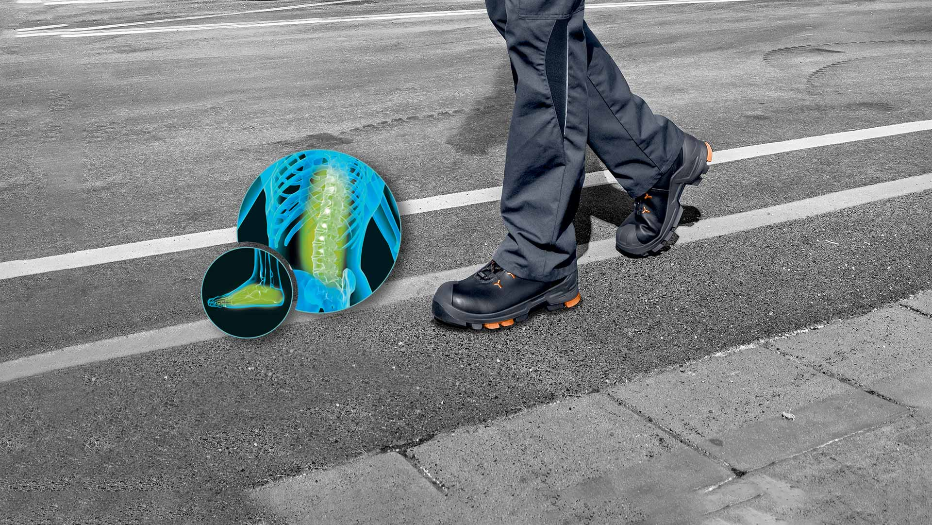Anti-fatigue footwear from uvex
