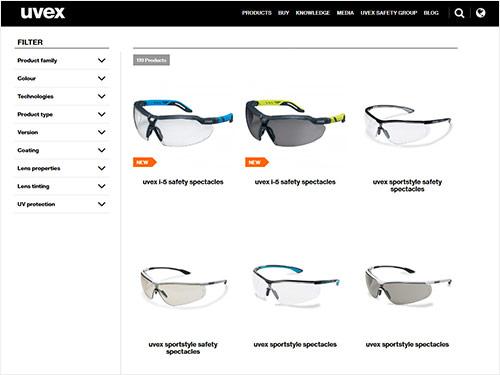 Explore our safety eyewear range