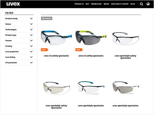 Explore our safety eyewear range
