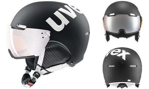 different views of the uvex hlmt 500 visor