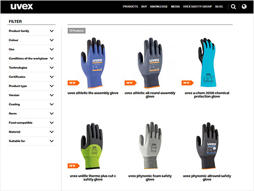 Explore our safety glove range