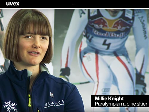 Watch Paralympian Millie Knight about safety at work and in sport