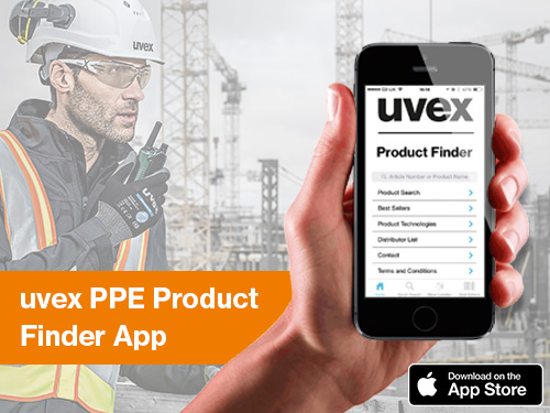 Download uvex product finder app