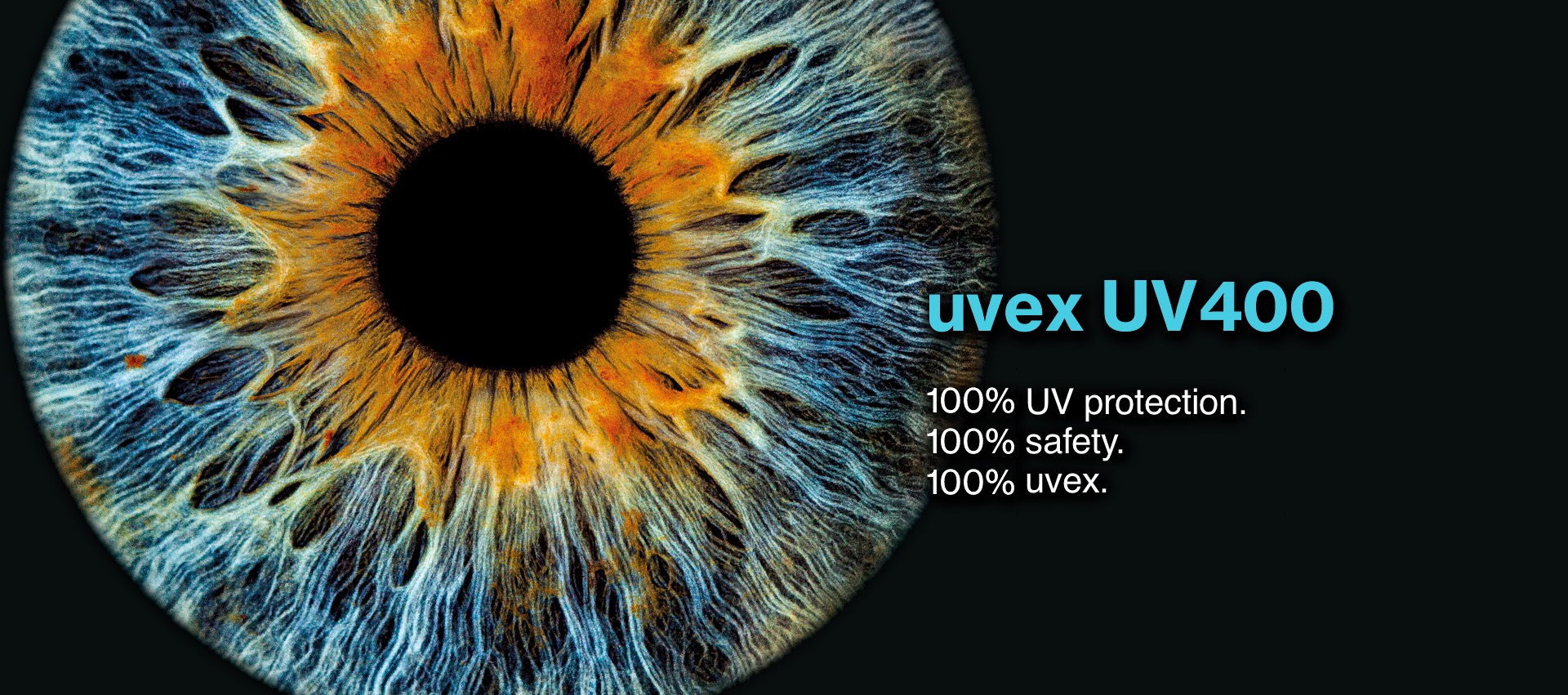 uvex UV400 — 100% protection against UVB and UVA radiation