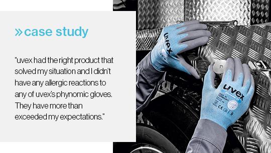 uvex phynomic gloves eliminate skin irritation