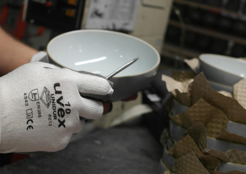 uvex gloves being used at Denby Pottery